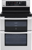 "LG - 30"" Self-Cleaning Freestanding Double Oven Electric Convection Range - Stainless-Steel"