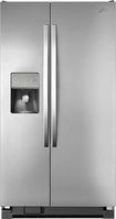 Whirlpool - 25.4 Cu. Ft. Side-by-Side Refrigerator with Thru-the-Door Ice and Water - Monochromatic Stainless-Steel