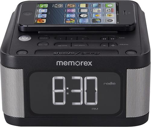 Memorex - Alarm Clock Radio - Black