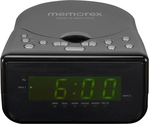 Memorex - CD Alarm Clock Radio - Black