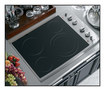"""GE Appliance - Profile CleanDesign 30"""" Built-In Electric Cooktop - Stainless"""