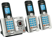 VTech - DS6521-3 Connect to Cell DECT 6.0 Expandable Phone System with Digital Answering System - Silver/Black