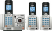 VTech - Connect to Cell DECT 6.0 Expandable Phone System with Digital Answering System - Silver/Black