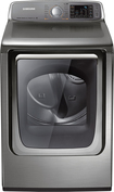 Samsung - 7.4 Cu. Ft. 15-Cycle Steam Gas Dryer - Stainless/Platinum