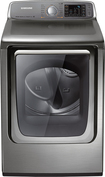 Samsung - 7.4 Cu. Ft. 15-Cycle Steam Electric Dryer - Stainless/Platinum