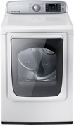 Samsung - 7.4 Cu. Ft. 13-Cycle Steam Electric Dryer - Neat White