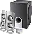 Insignia™ - Powered Computer Speakers with Subwoofer (3-Piece) - Black/Silver/Gray