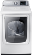 Samsung - 7.4 Cu. Ft. 13-Cycle Steam Gas Dryer - Neat White
