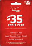Verizon Wireless Prepaid - $35 Top-Up Card - Red