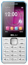 Blu - Tank II Cell Phone (Unlocked) - White/Blue