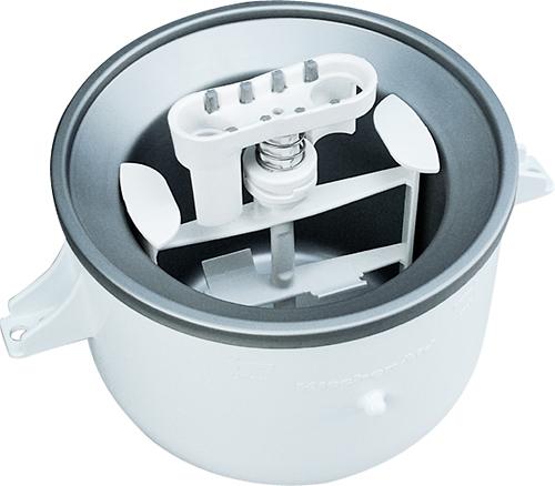 KitchenAid - Ice Cream Maker for Most KitchenAid Stand Mixers - White