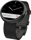 Motorola - Moto 360 Smart Watch for Android Devices 4.3 or Higher - Black Leather