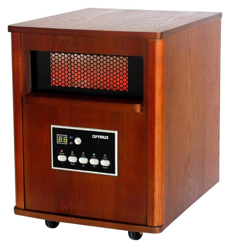 Optimus - Infrared Quartz Portable Heater - Wood