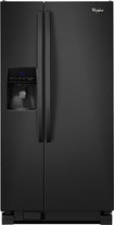 Whirlpool - 22 Cu. Ft. Side-by-Side Refrigerator with Thru-the-Door Ice and Water - Black