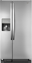 Whirlpool - 22.0 Cu. Ft. Side-by-Side Refrigerator with Thru-the-Door Ice and Water - Stainless-Steel