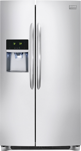 Frigidaire - Gallery 26.0 Cu. Ft. Frost-Free Side-by-Side Refrigerator with Thru-the-Door Ice and Water - Stainless Steel