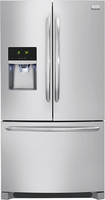 Frigidaire - Gallery 27.7 Cu. Ft. French Door Refrigerator with Thru-the-Door Ice and Water - Stainless-Steel