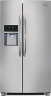 Frigidaire - Gallery 26.0 Cu. Ft. Frost-Free Side-by-Side Refrigerator with Thru-the-Door Ice and Water - Stainless-Steel