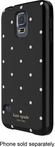 kate spade new york - Larabee Dot Hybrid Hard Shell Case for Samsung Galaxy S 5 Cell Phones - Black/Cream