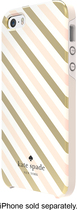 kate spade new york - Diagonal Stripe Hybrid Hard Shell Case for Apple® iPhone® 5 and 5s - Gold/Cream/Blush