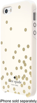 kate spade new york - Confetti Hybrid Hard Shell Case for Apple® iPhone® 5 and 5s - Gold/Cream