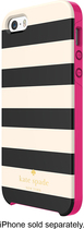 kate spade new york - Candy Stripe Hybrid Hard Shell Case for Apple® iPhone® 5 and 5s - Cream/Black