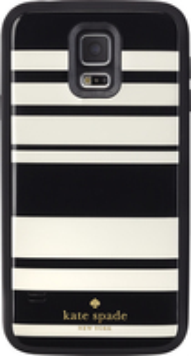 kate spade new york - offGRID Fairmont Stripe External Battery Case for Samsung Galaxy S 5 Cell Phones - Black/Cream