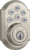Kwikset - 910 SmartCode Touchpad Electronic Deadbolt Lock - Satin Nickel