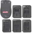 DigiPower - World Travel Charger for Select Olympus Digital Camera Batteries - Black