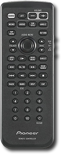 Pioneer - Remote for Pioneer Decks AVH-P4900DVD and Avic-D3 In-Dash Decks - Black