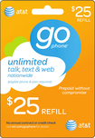 AT&T GoPhone - $25 Prepaid Wireless Airtime Card - Multi