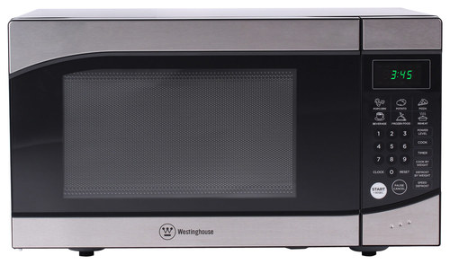 Westinghouse - 0.9 Cu. Ft. Mid-Size Microwave - Stainless Steel/Black