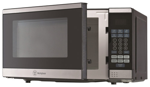Westinghouse - 0.7 Cu. Ft. Compact Microwave - Stainless Steel/Black