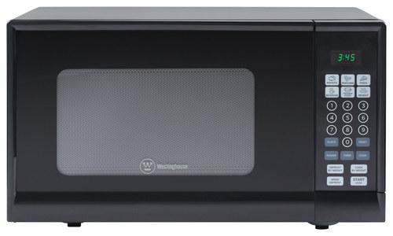 Westinghouse - 0.9 Cu. Ft. Mid-Size Microwave - Black