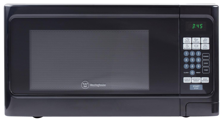 Westinghouse - 1.1 Cu. Ft. Mid-Size Microwave - Black