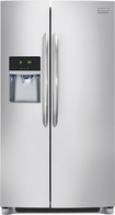 Frigidaire - Gallery 22.6 Cu. Ft. Counter-Depth Side-by-Side Refrigerator with Thru-the-Door Ice and Water - Stainless-Steel