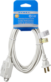 Dynex™ - 10' 3-Outlet Extension Power Cord - White