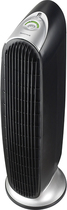 Honeywell - Oscillating Air Purifier with Permanent Filter - Black/Silver