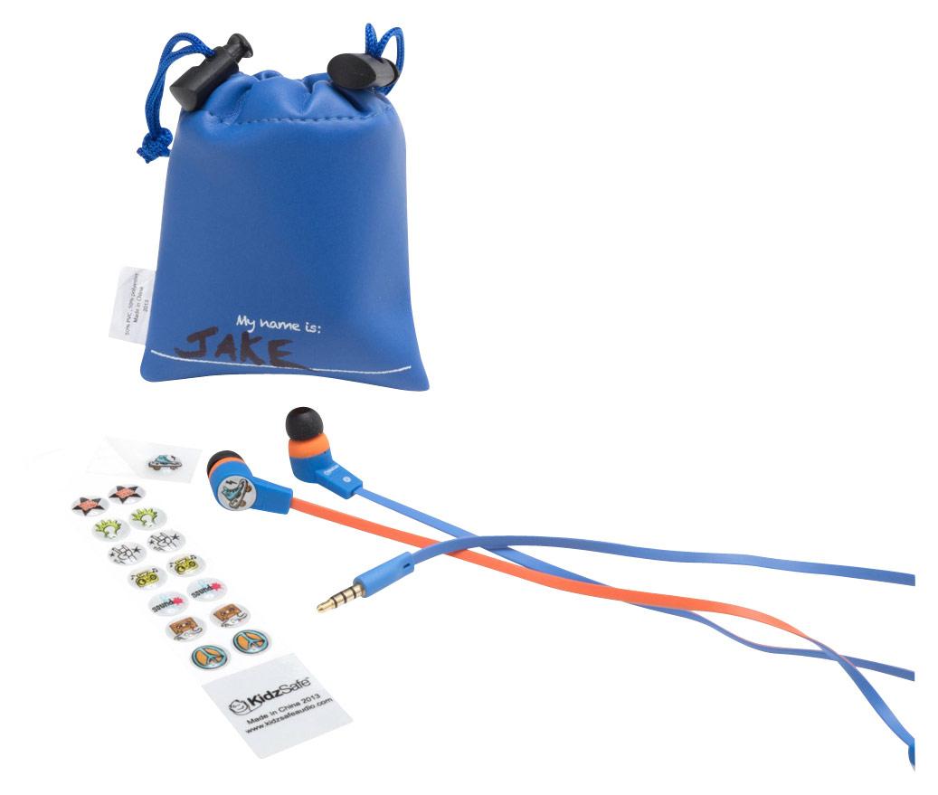 SMS Audio - KidzSafe MyDesign D.I.Y. Boys' Earbud Headphones - Blue