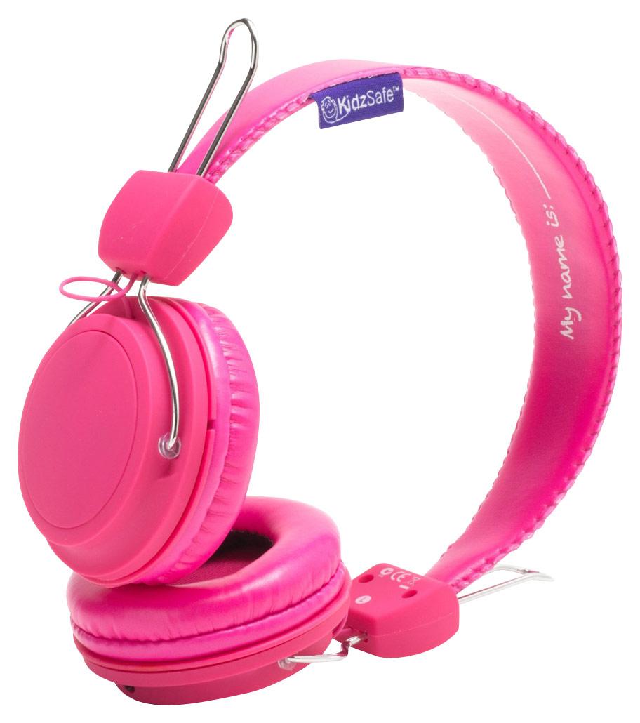 SMS Audio - KidzSafe MyDesign D.I.Y. Girls' On-Ear Headphones - Pink