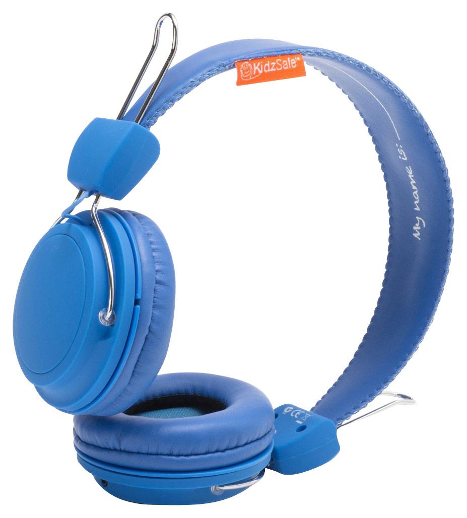 SMS Audio - KidzSafe MyDesign D.I.Y. Boys' On-Ear Headphones - Blue
