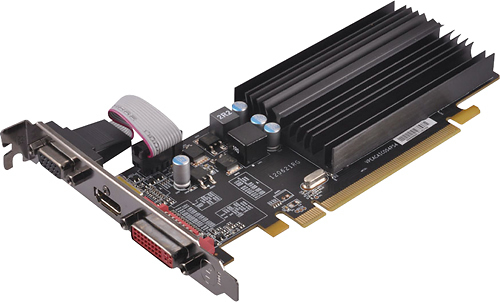 XFX Radeon R5 220 Core Edition 1GB DDR3 PCI Express Graphics Card Black R5-220A-ZQHR