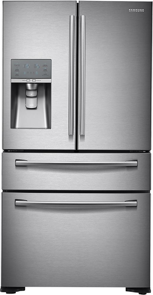 Samsung - 31.0 Cu. Ft. 4-Door French Door Refrigerator with Thru-the-Door Ice and Water - Stainless-Steel