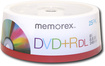 Memorex - 25-Pack 8x DVD+R DL Double-Layer Disc Spindle - White
