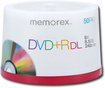 Memorex - 50-Pack 8x DVD+R DL Double-Layer Disc Spindle - White