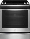 "Whirlpool - 30"" Self-Cleaning Slide-In Electric Convection Range - Stainless-Steel"