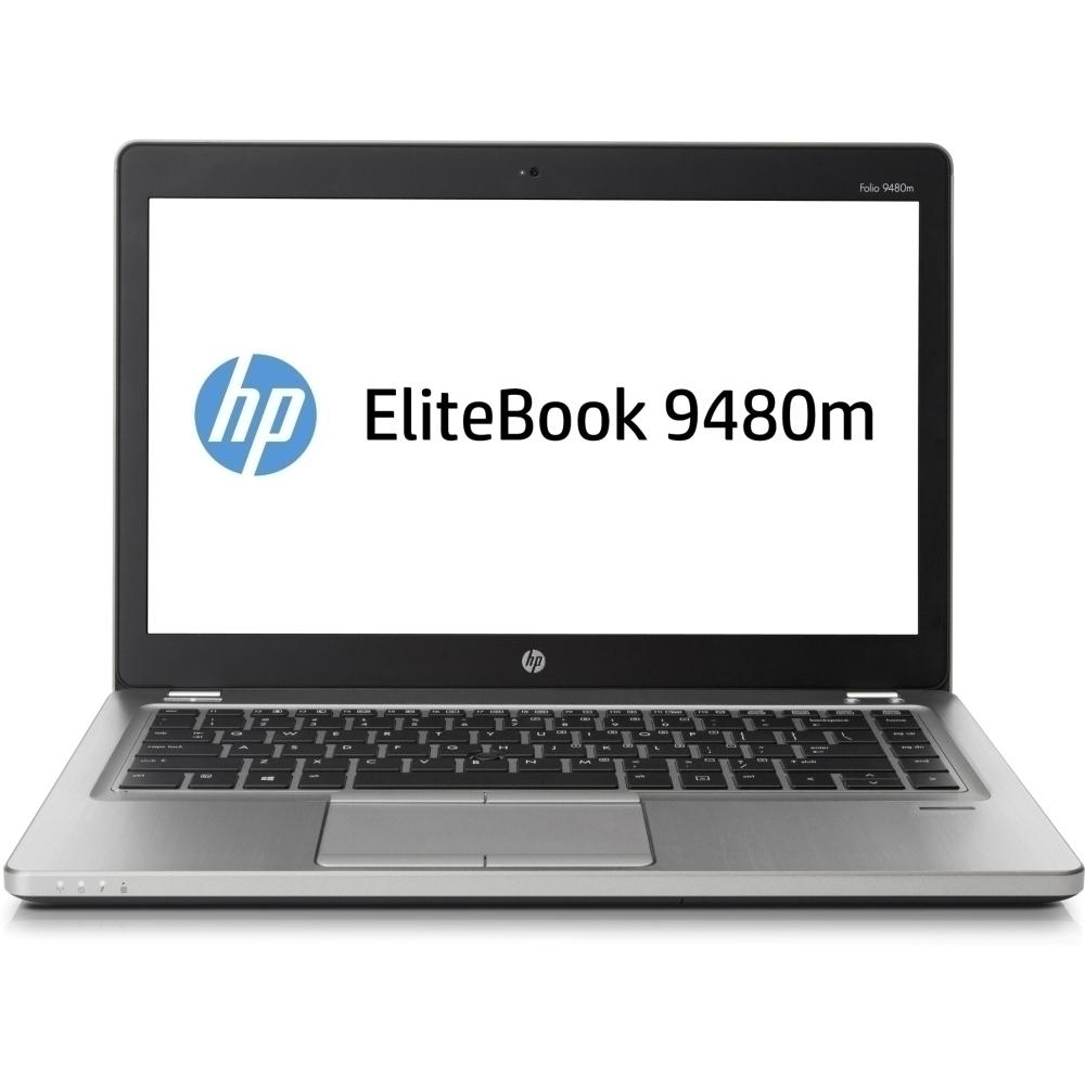 "HP - EliteBook Folio 9480m 14"" Laptop - Intel Core i5 - 4GB Memory - 256GB Solid State Drive - Platinum"