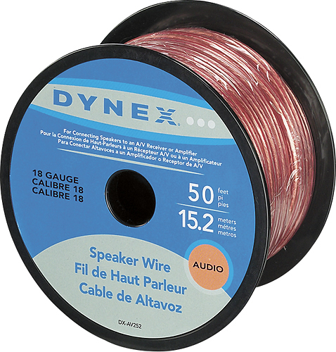 Dynex™ - 50' Spool Speaker Wire - Gold