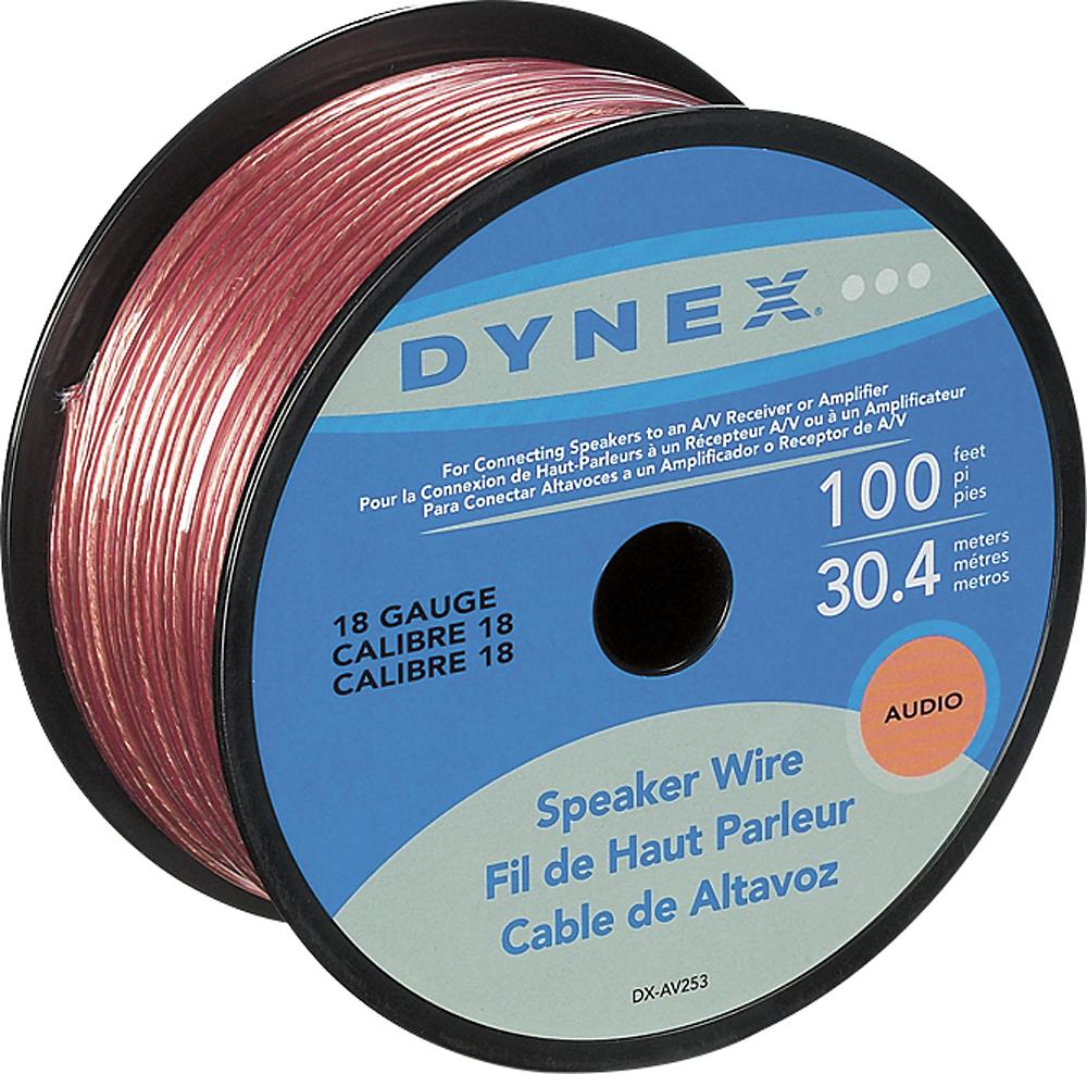 Dynex™ - 100' Spool Speaker Wire - Gold