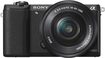 Sony - Alpha a5100 Mirrorless Camera with 16-50mm Retractable Lens - Black